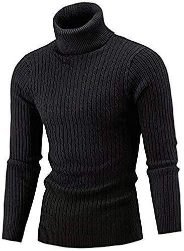 Belovecol Maglioni Pullover Aderenti da Uomo a Manica Lunga con Collo Alto e Collo Alto