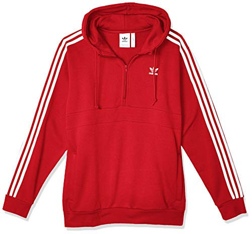 adidas Herren 3-Streifen Hoodie, Lush Red, S
