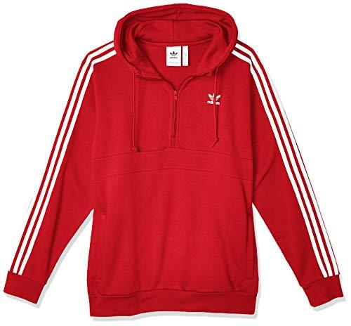 adidas 3-Stripes Hz Sudadera, Hombre, Lush Red, XS