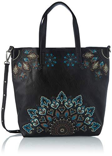 Desigual Accessories PU Hand Bag, Borsa a Mano. Donna, Verde, U