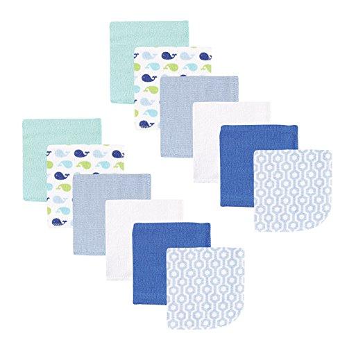 Luvable Friends Unisex Baby Cotton Rich Washcloths, Boy...