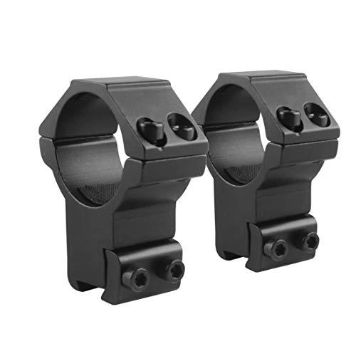 1 Zoll/30mm Zielfernrohr Ringe Montage Hoch/Mittleres/Niedriges Profil 2 Stücke für 11mm/20mm Picatinny/Weaver Rail CJ/MJJ-01 (1 Zoll Ringe, Hoch Profil, for 11mm Rail)