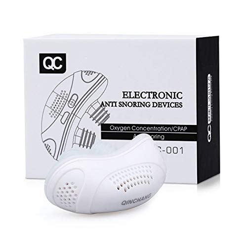 Dispositivo Antirronquidos Pinza Nasal Eléctrica Micro Cpap Para Roncar Purificador De Aire Dilatador Nasal Para Respirar Fácilmente, Dormir Cómodamente, Tapón De Ronquido Mudo HHHHH ( Color : White )