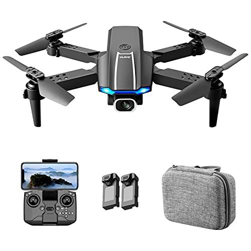 Zwbfu YLR/C S65 RC Drone,con Fotocamera 4K Fotocamera RC Quadricottero con Funzione Traiettoria Controllo Gesto di Volo Sacchetto di Immagazzinaggio Pacchetto 2 Batteria