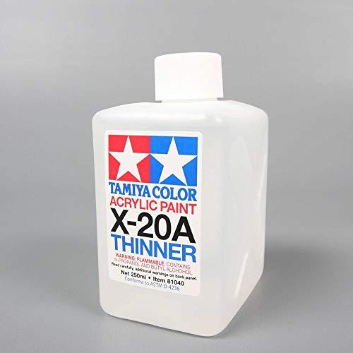 タミヤ メイクアップ材シリーズ No.40 アクリル塗料 溶剤特大 X-20A (250ml) 81040