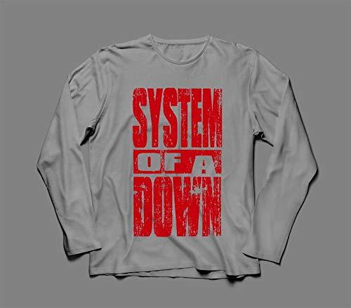 Camiseta/Camisa Manga Longa Feminina System Of A Down Tamanho:M;Cor:Cinza