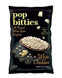 Pop Bitties Air Popped Sorghum Snack - Healthy Popcorn Alternative - 100% Ancient Whole Grain (White Cheddar, 4-pack, 4.5oz bags) Plant Based, Digest Easily, Gluten Free, No Corn or Nuts, Vegetarian