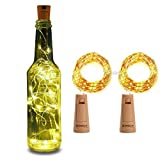 XERGY Bottle Lights Battery Powered Cork Shaped Fairy String DIY, Party Decor (Pack of 1) (20LED, 2 Meters)