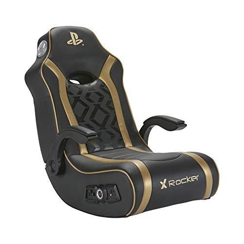 X Rocker Gold 2.1 Floor Rocker - Silla de Gaming, Color Negro y Dorado