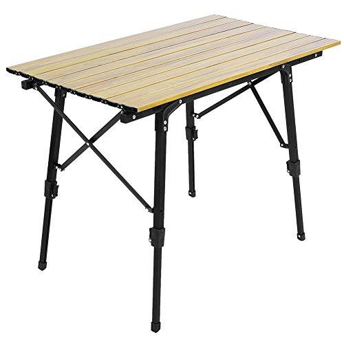 FastUU Klappbarer Camping-Tisch, tragbarer Verstellbarer Camping-Picknicktisch, hochstabile Klapptisch-Schreibtischbaugruppe aus Aluminiumlegierung für Picknick, Grill, Gartenpartys, Essen