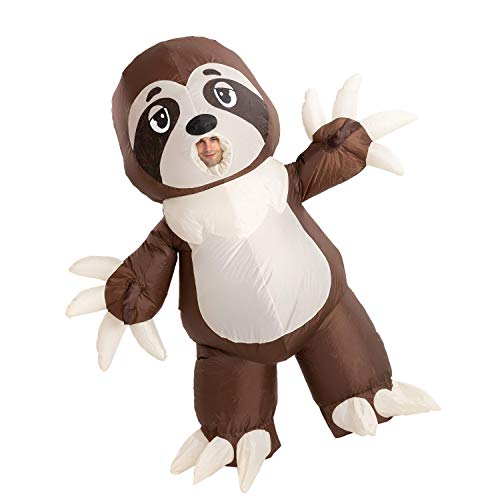 Spooktacular Creations Inflatable Halloween Costume Full Body Sloth Inflatable Costume - Adult...
