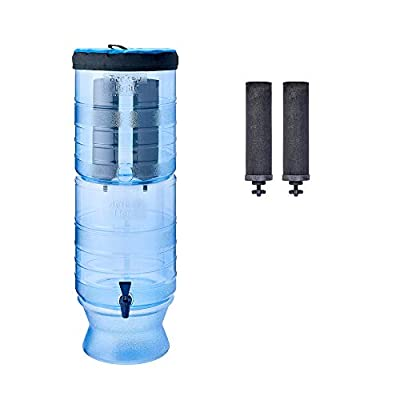 Berkey Light Water Filtration System with Two Black Filter Elements