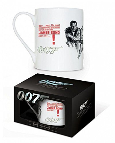 1art1 James Bond 007, Dr No Foto-Tasse Kaffeetasse (9x8 cm) Inklusive 1x Überraschungs-Sticker