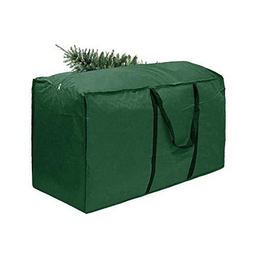 Gpure Organizador Bolsa de árbol de Navidad Grande 68x29x20 Inch Plegables Rectangular con Cremallera De Almacenaje Bolsa De Almacenamiento Impermeable Paño de Oxford Verde Armario Cajas