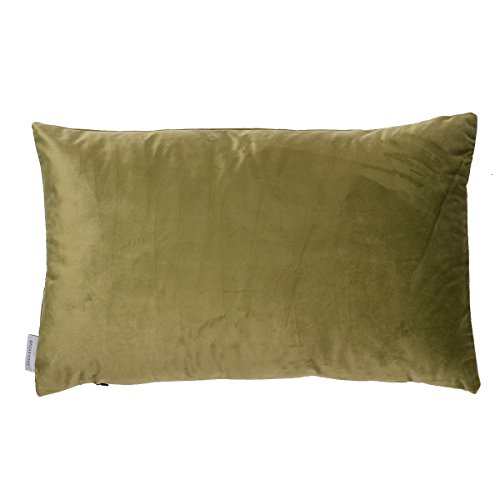 B & H kussen in velours, polyester, groen, eenpersoonsbed, 60 x 40 x 5 cm