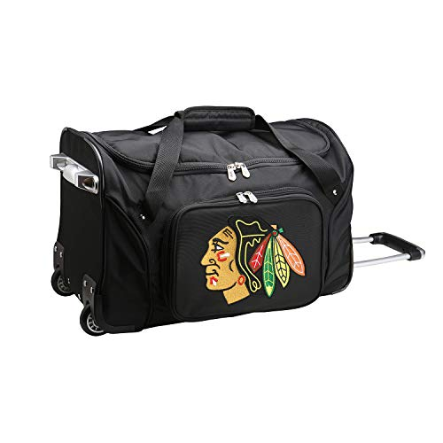 Review NHL Chicago Blackhawks Wheeled Duffle Bag, 22-inches