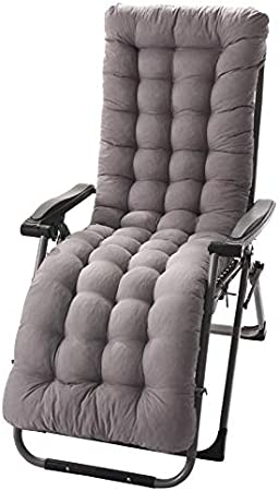 MiXXAR Sun Lounger Cushion Pads Chaise Lounge Cushion Thicken Sanded Soft And Comfortable Patio Garden Deckchair Recliner Lounge Thick Pad Outdoor Seating Cover Portable Multiple Colors Available
