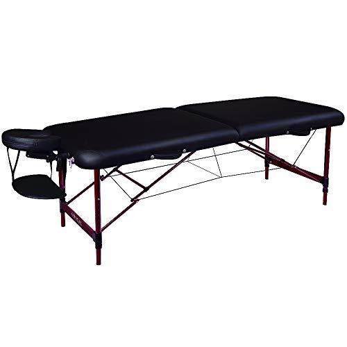 "Master Massage Master Massage 28"" Zephyr Lightweight Aluminum Portable Massage Table in Black"