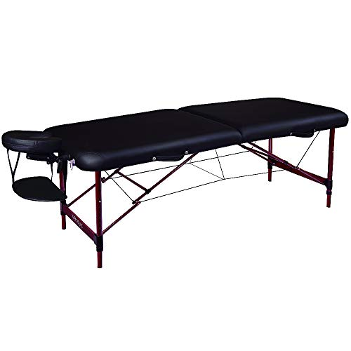 Master Massage Master Massage 28' Zephyr Lightweight Aluminum Portable Massage Table in Black