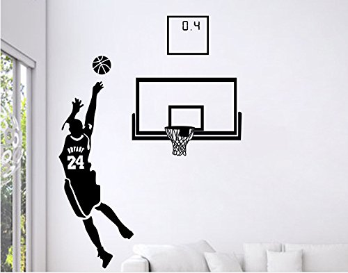 Baloncesto Estrella Autoadhesiva Nba Etiqueta De La Pared Dormitorio Masculino Dormitorio Dormitorio Pintura De La Pared 120 * 87cm Trompeta