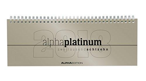Agenda Planning settimanale Alpha Platinum 2018 29,7x10,5 cm