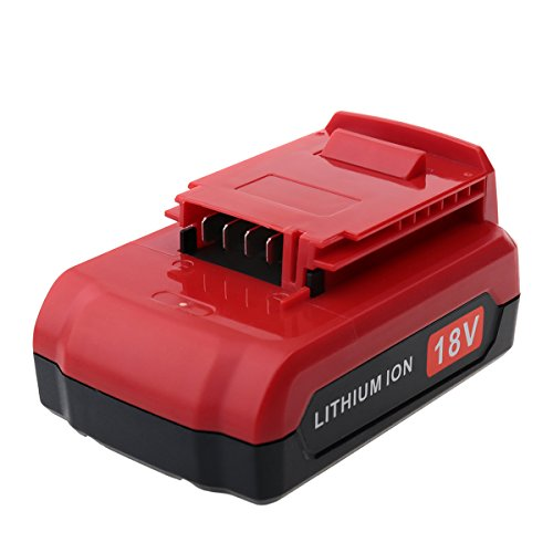 Biswaye 18V 2.0Ah Lithium Ion Replacement Battery for 18V Porter Cable Cordless Power Tools PC18B PC18BL PC18BLX PCC489N PCXMVC Battery