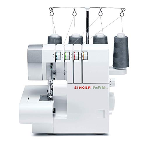 Singer 14CG754 Serger 2-3-4 Thread Capability Overlock with Blind, Rolled Hems and Flatlocking, Take Your Creations to The Next Level, White