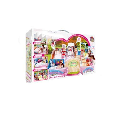 Lihgfw Warm Home Sweet Haus Dress Up Set Große Geschenk-Box Mädchen-Spiel-Haus Kinderspielzeug 4 Szenen Elektrisch Wasser Jet Badewanne