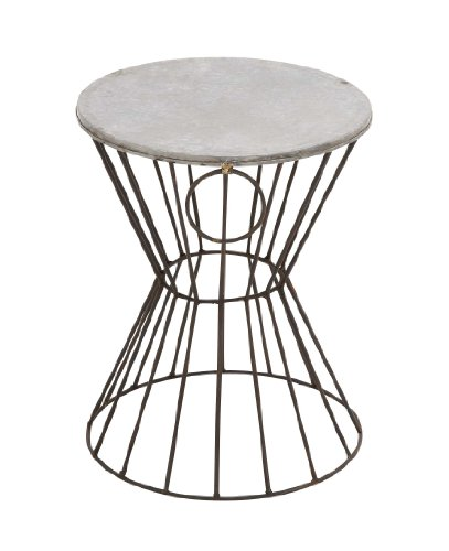 Deco 79 Metal Stool, 15-Inch by 18-Inch