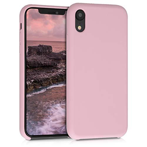 kwmobile Hülle kompatibel mit Apple iPhone XR - Handyhülle gummiert - Handy Case in Peach Skin