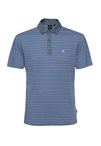Merc of London Herren Saxon Poloshirt, Blau (Bright Blue 253), X-Large