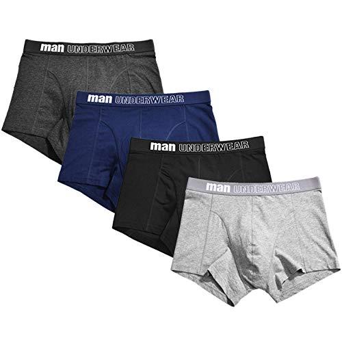 HHSW Calzoncillos Masculinos Pantalones Cortos De Boxeador De Algodón Fashon Sexy (4 De Paquete)-Multi_Metro