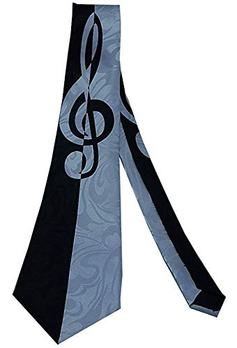 Krawatte Men 'S Bold Violinschlüssel Krawatte Krawatten Silk Neckwear,Lang 145Cm
