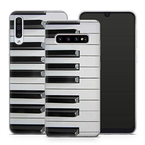 Handyhülle Musik für Samsung Silikon MMM Berlin Hülle Notenschlüssel Klavier Geige Instrument Music, Kompatibel mit Handy:Samsung Galaxy A7 (2018), Hüllendesign:Design 3 | Silikon Klar