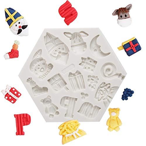 MOUJU Stampi in Silicone per Animali marini per la Decorazione di Torte Stampo per Torte Fondente Stampo per Cioccolato Strumenti in Argilla polimerica Cottura in Forno Bakeware Asino