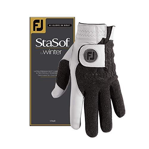 FootJoy StaSof Winter Gloves, Pearl, Cadet Small, Pair