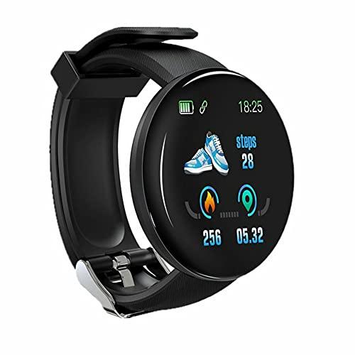 Bellaluee D18 Pantalla Redonda Pantalla a Color Pulsera Podómetro Deportivo Monitoreo del sueño Reloj Deportivo Multifuncional de frecuencia cardíaca