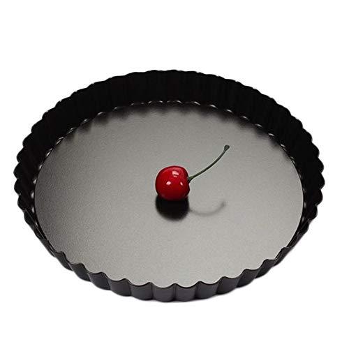 AEROBATICS Rundes Pizzablech,Pizza Backblech Backset aus beschichtetem Carbonstahl für Flammkuchen oder Zwiebelkuchen zum überbacken oder gratinieren auf dem Grill Chrysanthemum Mobile Kuchenform