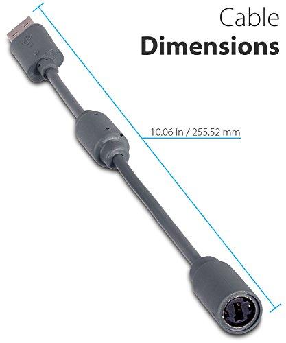 Fosmon Dongle kompatibel mit Microsoft Xbox 360 Controller (Adapter Controller USB Breakaway Kabel) - 2 Pack
