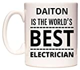 DAITON Is The World's BEST Electrician Taza por WeDoMugs®