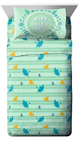 Disney Lion King Fun In The Sun Full Sheet Set - 4 Piece Set Super Soft and Cozy Kid's Bedding Features Simba, Pumbaa, and Timone - Fade Resistant Polyester Microfiber Sheets (Official Disney Product)