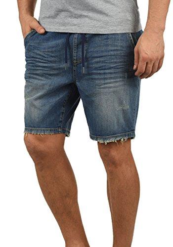 Blend Demo Pantalón Corto Vaqueros para Hombre Elástico Regular-Fit