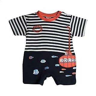 Papillon Embroidered Submarine Short Sleeves Bodysuit for Boys