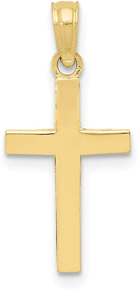 10k Max 72% OFF Yellow Gold Cross trust Pendant