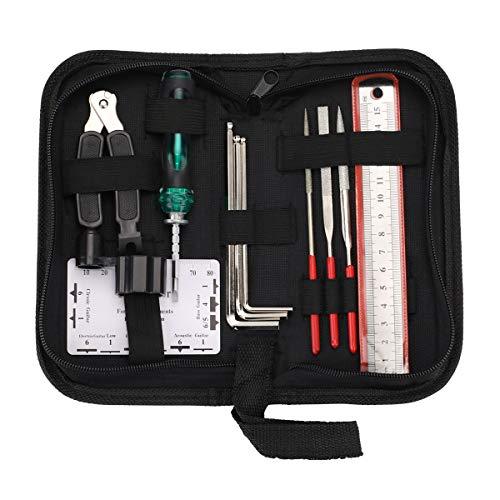 Hidear Guitar Repairing Maintenance Tool Kit Includes String Organizer String Action...