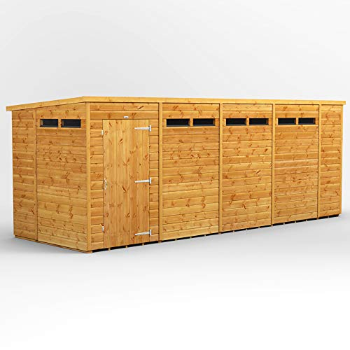 POWER | 18x6 Pent Security Wooden Garden Shed | Size 18 x 6 | Secure Sheds with super fast delivery