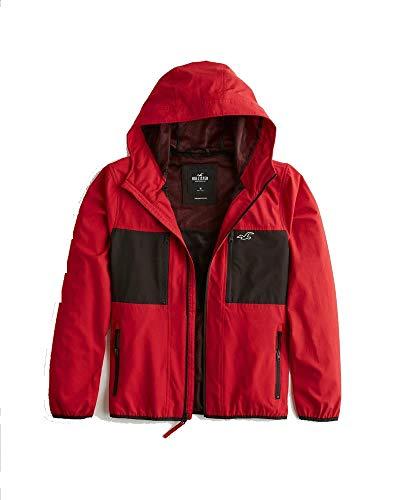 Hollister Co.. Colorblock Full-Zip Windbreaker (L) Red