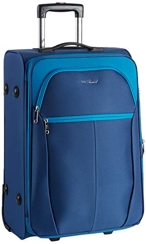 WITTCHEN Unisex-Erwachsene VIP COLLECTION koffer Luggage- Suitcase, Marineblau, M (63x42x32cm)