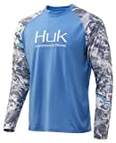 Huk Men's Mossy Oak Double Header Vented Long Sleeve Shirt | Camo Long Sleeve Performance Fishing Shirt With +30 UPF Sun Protection, Mossy Oak Hydro Standards, Small