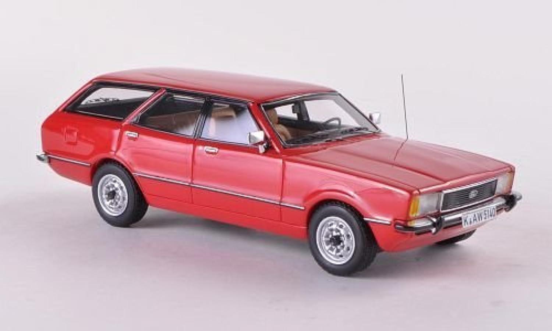 Ford Taunus TC2 Turnier GL, rot , 1976, Modellauto, Fertigmodell, Neo 1 43